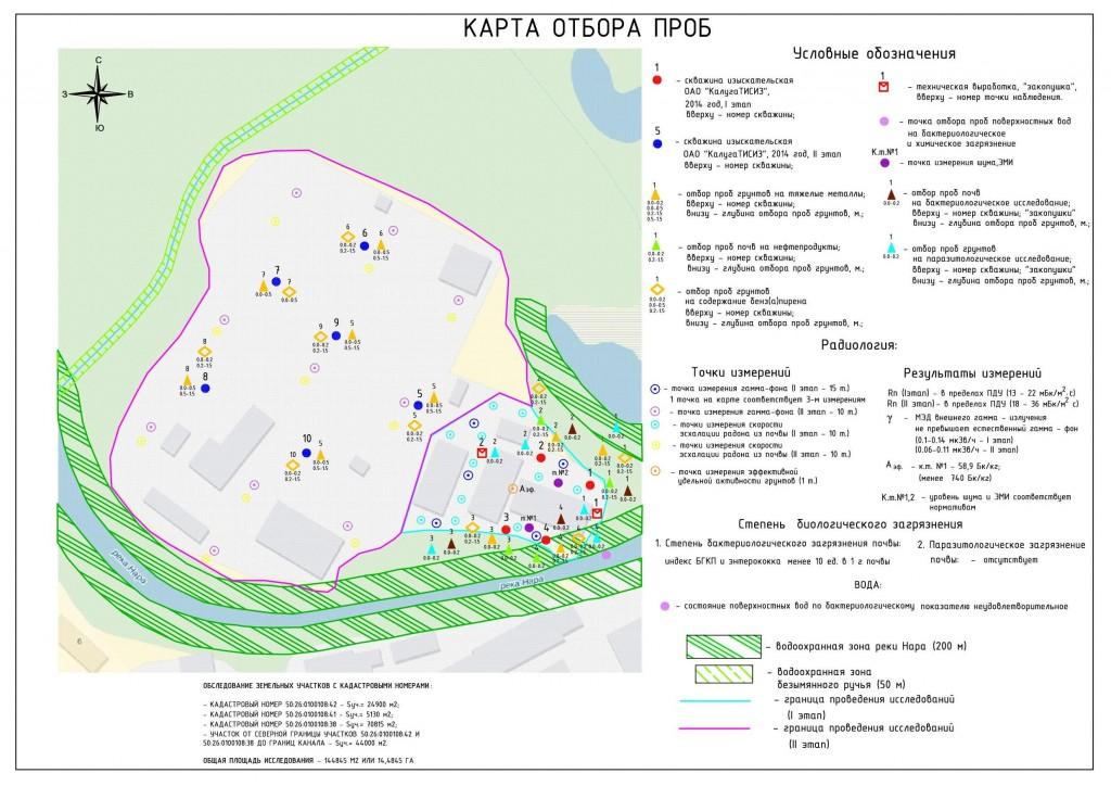 Карта отбора проб НФТ_Экология